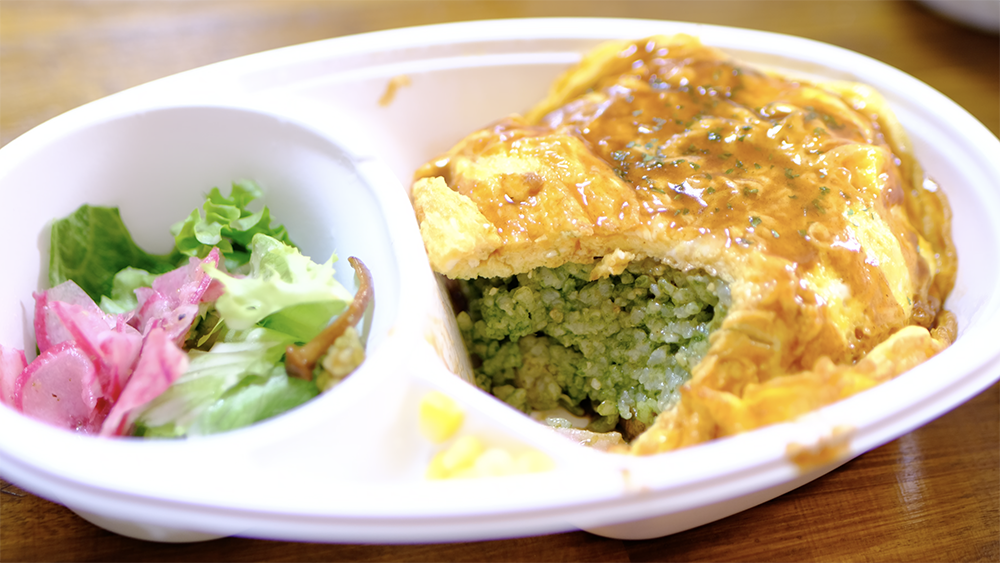 green world cafeのオムライス弁当